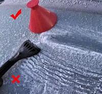 Скребок для очистки стекла автомобиля от снега и льда