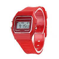 Спортивные электронные наручные часы Часы Ernstes kind Rot