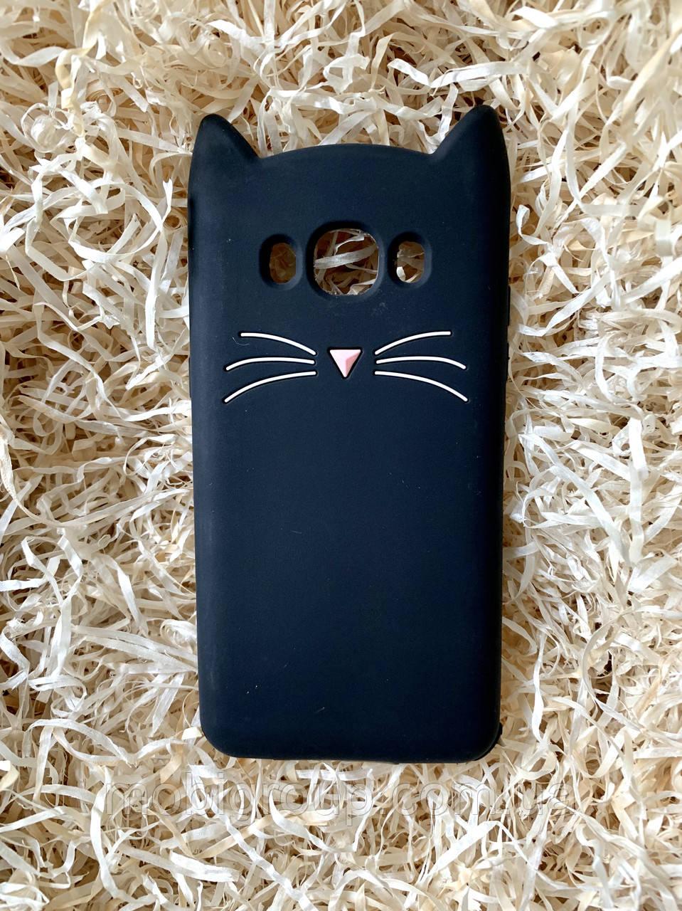 Силиконовый чехол Cat для Samsung J5 2016 (J510), черный
