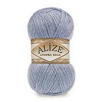 Зимняя пряжа (20% шерсть, 80% акрил; 100г/550м) Alize Angora Gold 221 (св.джинс меланж)