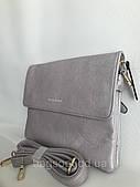 Женская сумочка через плечо клатч серебристого цвета Pretty Woman Одесса 7 км