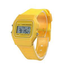 Спортивные электронные наручные часы Ernstes kind Gelb