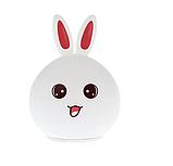Силиконовый ночник 3DTOYSLAMP Кролик с розовыми ушками 16 цветов Пульт ДУ, фото 4