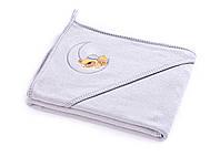 Детское махровое полотенце с уголком Sensillo Медвежонок Grey, фото 1
