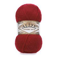 Зимняя пряжа (20% шерсть, 80% акрил; 100г/550м) Alize Angora Gold 106(красный)