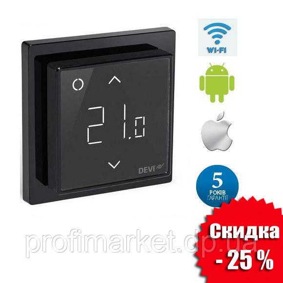 Терморегулятор DEVIreg™ Smart Pure Black Wi-Fi
