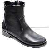 Ботинки женские черные демисезонные на низком каблуке от производителя модель РИ3001, фото 2