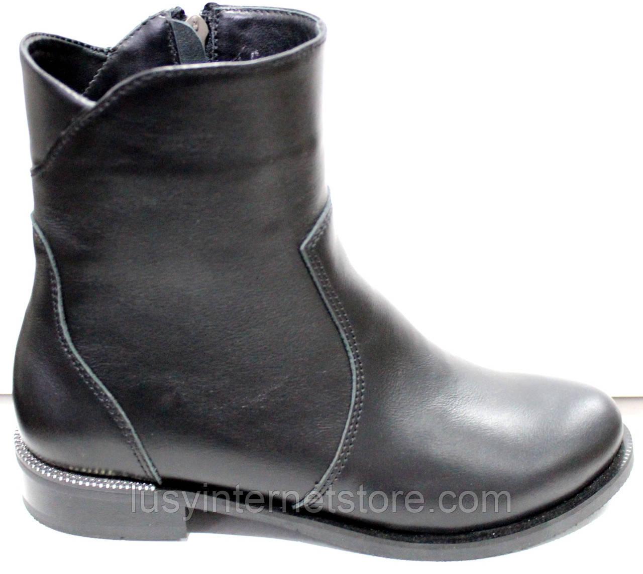 Ботинки женские черные демисезонные на низком каблуке от производителя модель РИ3001