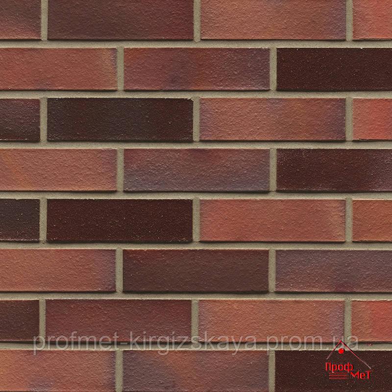 Клинкерный кирпич MUHR красно-коричневый пестрый глянцевый