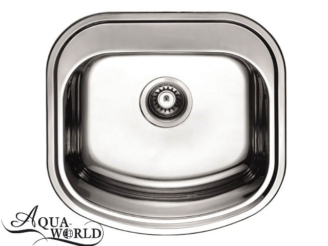Мойка кухонная нержавеющая сталь 490 мм Aqua-World