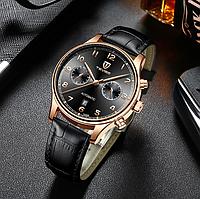 Часы мужские наручные Tevise (T836A), Черные, механические, с автоподзаводом