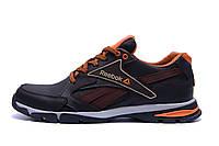 Мужские кожаные кроссовки Reebok Brown (реплика), фото 1