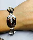 Браслет в серебре с золотом и цирконами Шерон, фото 5
