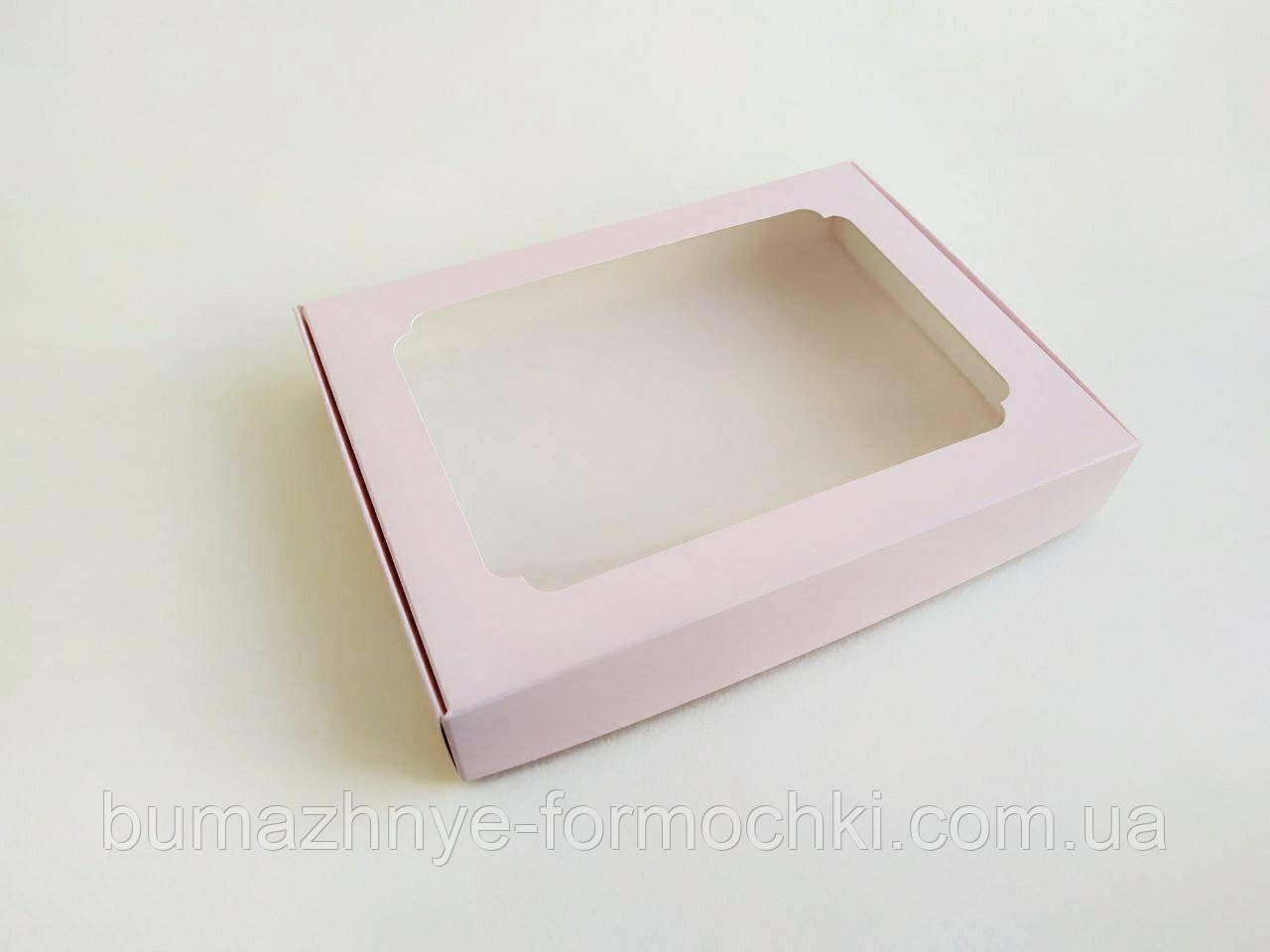 Коробка для пряников, 150*200*30, розовый фламинго