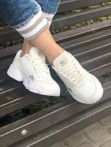 Женские кроссовки в стиле Adidas Falcon All White, фото 3