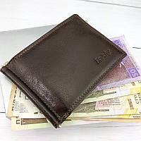 Зажим для денег кожаный коричневый Rovicky N1908-RVTK Brown, фото 1