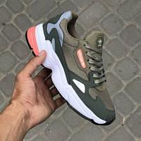 Женские кроссовки в стиле Adidas Falcon Olive