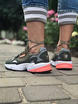 Женские кроссовки в стиле Adidas Falcon Olive, фото 3