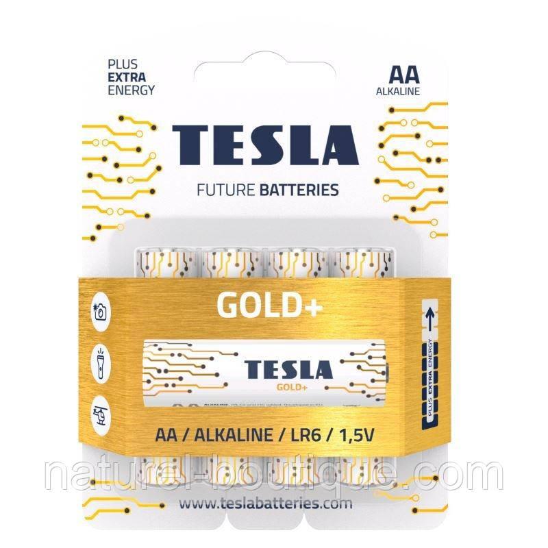 Батарейки Tesla Future Batteries Gold+ (пальчикові лужні батареї AA Alkaline LR6 1,5 V)