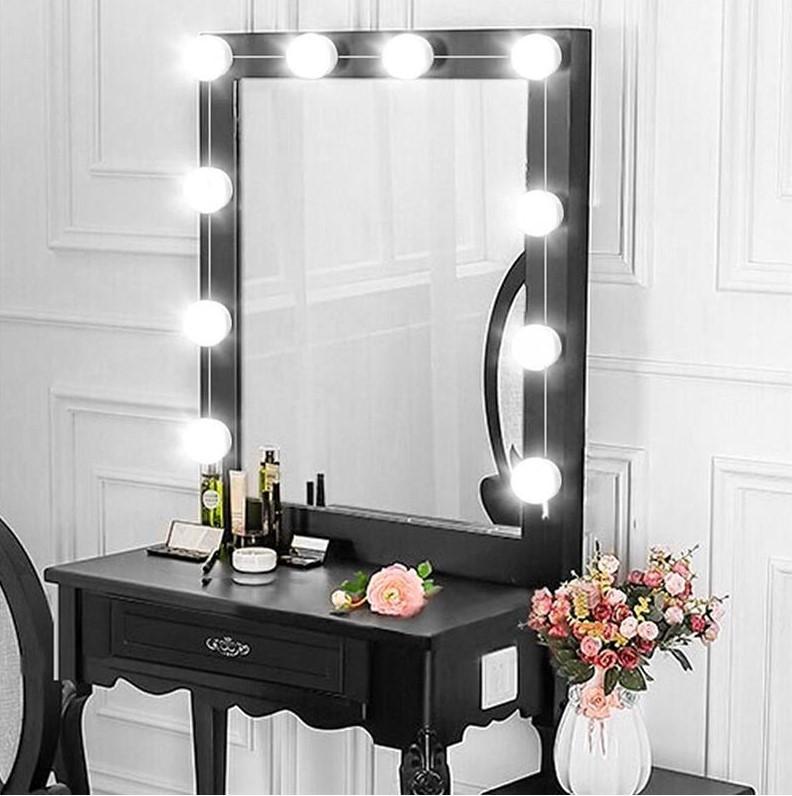 LED лампочки 10 шт для гримерного зеркала 3 режима Vanity Mirror Lights