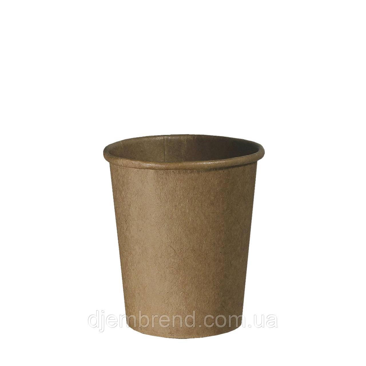Стакан бумажный Крафт 175мл. 50шт/уп  (КР72)