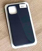 Тонкий силиконовый чехол-накладка Silicone Case Cover Full для iPhone 11 Черный