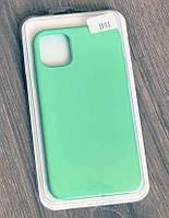 Тонкий силиконовый чехол-накладка Silicone Case Cover Full для iPhone 11 Салатовый