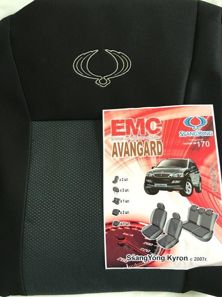 Чохли на сидіння SSANGYONG KYRON 2005р...з/сп закритий тил і сід.2/3 1/3;подл;5подг;airbag