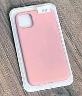 Тонкий силиконовый чехол-накладка Silicone Case Cover Full для iPhone 11 Розовый