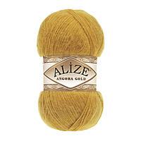 Зимняя пряжа (20% шерсть, 80% акрил; 100г/550м) Alize Angora Gold 02 (шафран)