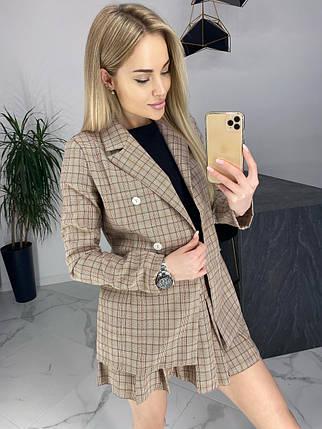 Женский костюм-двойка пиджак и юбка /коричневый, 42-46, ft-470/, фото 2