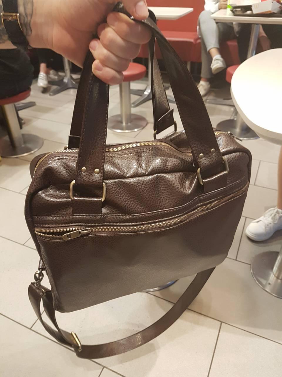 Мужская сумка v.1.0. Fisher Gifts коричневая (кожзам.)