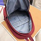 Бардовый однотонный рюкзак женский с водонепроницаемой пропиткой., фото 4