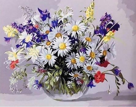 Алмазная живопись 30*40см. GJ1003 Ваза полевых цветов Rainbow Art , алмазная мозайка, фото 2