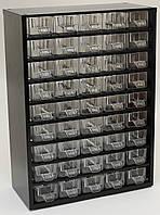 Органайзер К45 чёрный, кассетница, сортовик, ящик, ячейка для мелочей, деталей, метизов, бисера