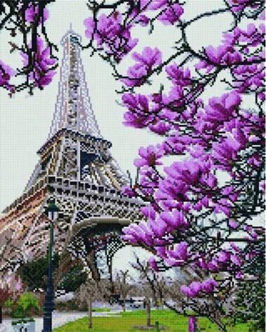 Алмазная живопись 30*40см. GJ1004 Весна в Париже Rainbow Art, алмазная мозайка, фото 2