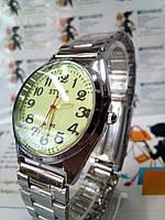 Мужские наручные часы style на браслете светящийся циферблат