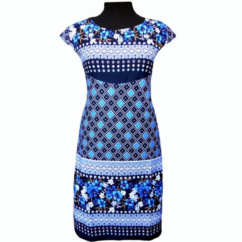 Платье летнее купонное в цветах
