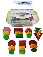 Набір дидактичного матеріалу HEGA Основні геометричні фігуи, фото 1