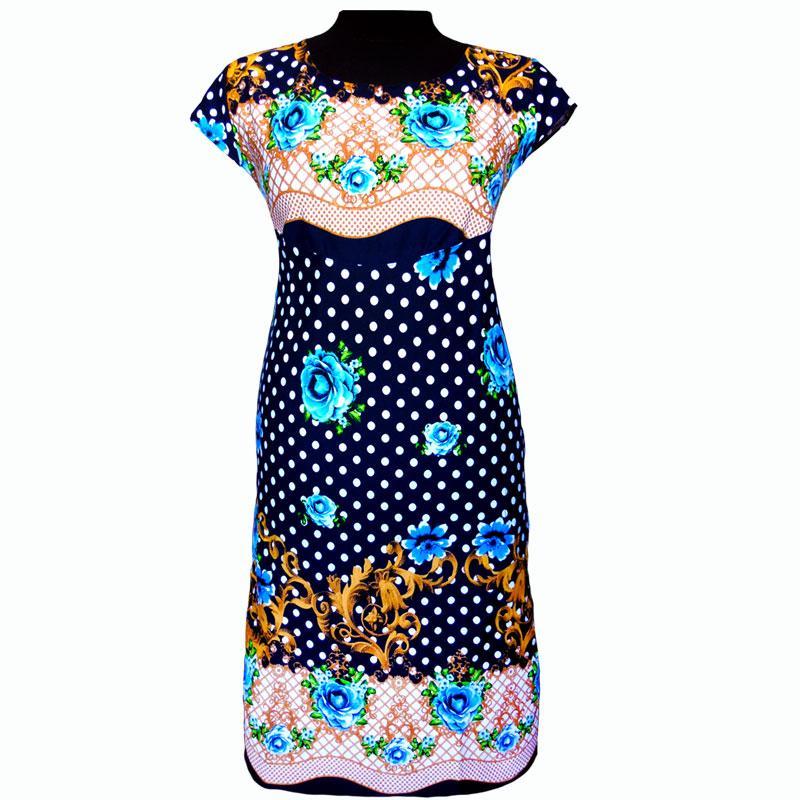 Яркое летнее платье в цветах