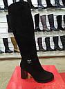 Элегантные женские кожаные зимние сапожки на каблуке, фото 2