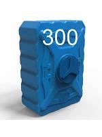 Бак пластиковый квадратный объем 300 литров синий трёхслойный.