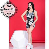 Спортивный комбинезон с шортами Amorefit