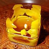 """Восковая чайная свеча """"Коробка с подарками"""" в пластиковом прозрачном контейнере; натурального пчелиный воск, фото 5"""