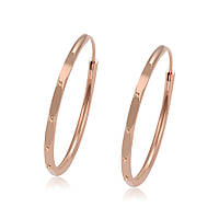 Серьги-кольца. Размер 20 х 2 мм. ХР Gold filled 18k Розовое золото.