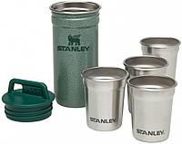 Набор Stanley Adventure Combo Hammertone Green: фляга 0.59 л и 4 рюмки (6939236348942)