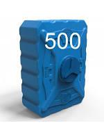 Емкость квадратная пластиковая объем 500 литров трёхслойная синяя.