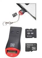 Картридер Micro SD UKC USB S102, фото 1