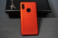 Чехол бампер силиконовый Huawei Honor 8A (JAT-LX1) Хуавей цвет красный Soft-touch