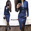 Женское Силуэтное замшевое платье с карманамина на молнии (Размер С, М, Л, хаки, темно-синий, красный, черный)